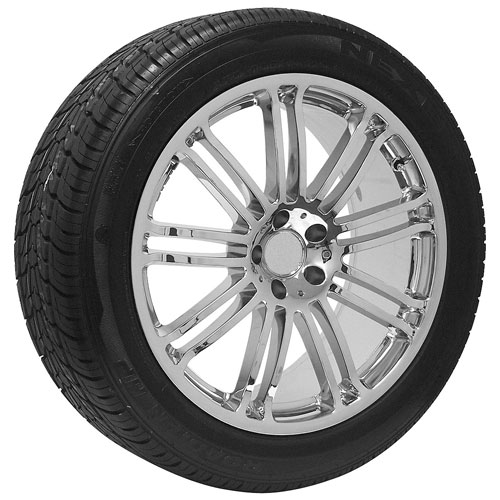 20 replica mercedes benz chrome wheels and tire package for Rims and tires for mercedes benz