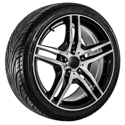 18 black replica mercedes benz wheels tires usarim for Tires for mercedes benz