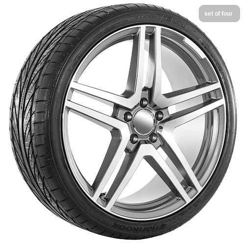 20 machine faced gunmetal replica mercedes benz tire for Rims and tires for mercedes benz