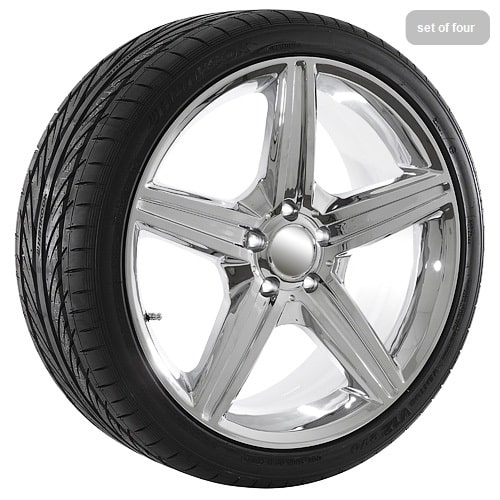 19 replica mercedes benz chrome wheel and tire package for Rims and tires for mercedes benz