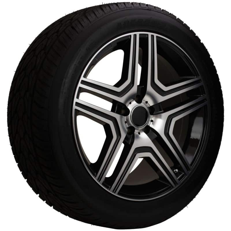 20 silver mercedes replica rims and tire package for Rims and tires for mercedes benz