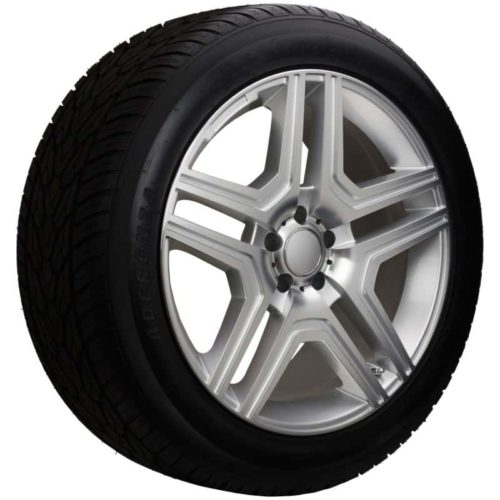 20 replica mercedes benz silver wheel and tire package ml for Rims and tires for mercedes benz