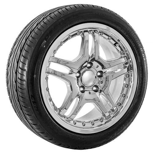 17 chrome mercedes benz replica rims tires usarim for Chrome rims for mercedes benz