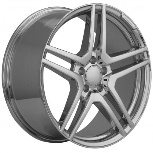 18 staggered chrome mercedes benz wheels hollander 85400 for Mercedes benz chrome rims