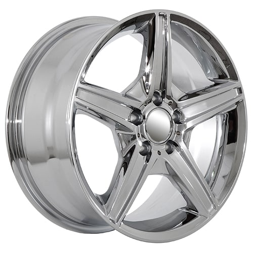 19 chrome mercedes benz replica rims 615 usarim for Chrome rims for mercedes benz