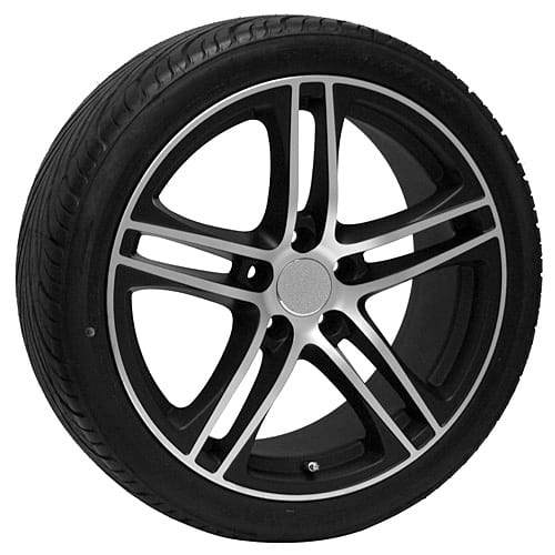 Vw Jetta Tire Size >> 18 Black VW GTI EOS Jetta Passat Rabbit CC Wheels Rims Tires - UsaRim