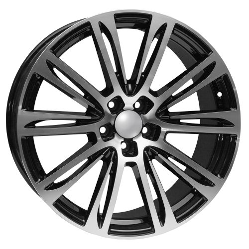 20 Audi Black Machined Face Replica Rims Set Of 4 Rims